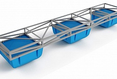 Pontoons, float dock sistems and piers on type C modules